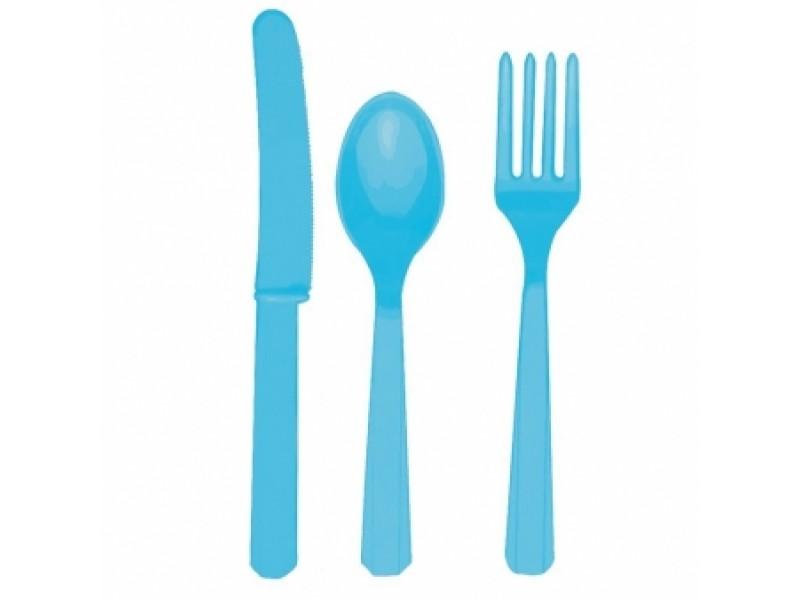 Stalo įrankių rinkinys, vandenyno spalvos (šviesiai mėlynas) (8-iems asmenims)