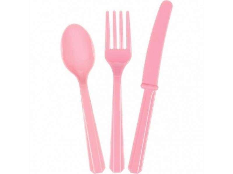 Stalo įrankių rinkinys,rožinis (8-iems asmenims)