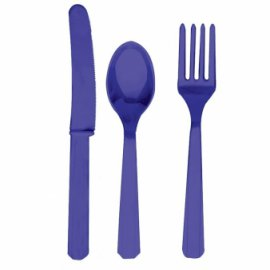 Stalo įrankių rinkinys, violetinis (8-iems asmenims)