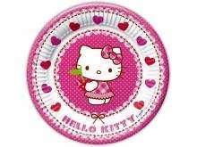 """Lėkštutės """"Hello Kitty"""" (20cm/8vnt)"""