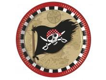 """Lėkštutės """"Piratai"""" (8vnt/23cm)"""