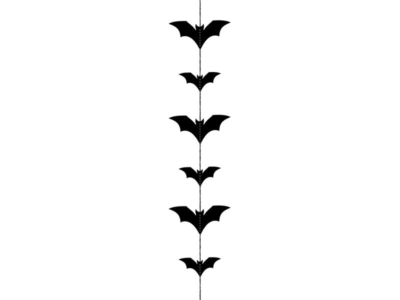 """Kabanti dekoracija """"Šikšnosparniai"""", juoda (1,5m.)"""