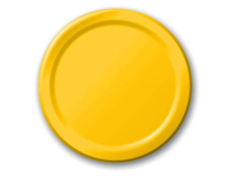 Lėkštutės, geltonos(8vnt/17,8cm)