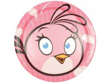 """Lėkštutės """"Angry bird""""(8vnt./18cm)"""