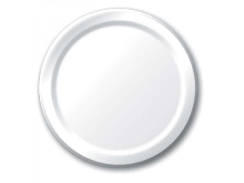 Baltos lėkštutės  (8vnt/18,8cm)