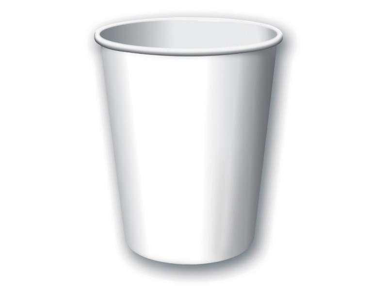 Balti puodeliai (8vnt/266ml)